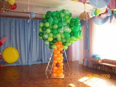 Дерево из шаров своими руками