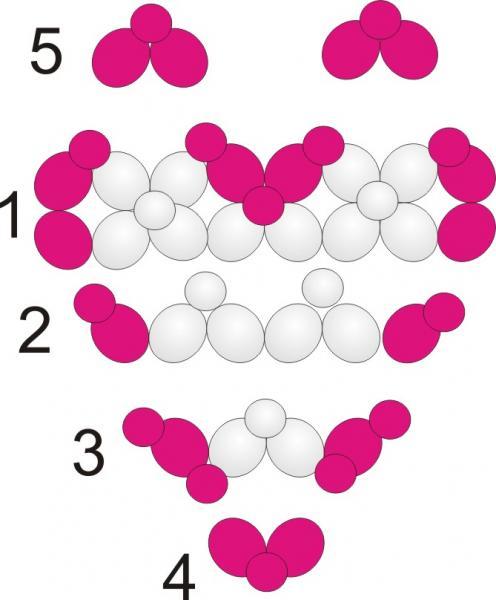 Схемы сердце из шаров