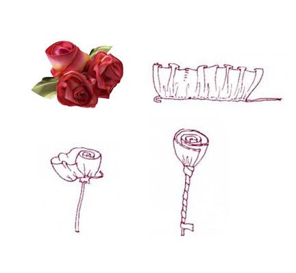 Как сделать розу из лент ткани своими.