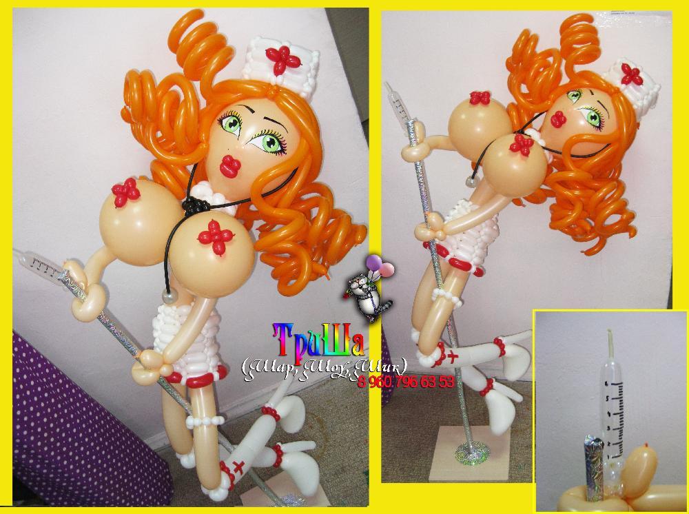 Девушка из воздушных шаров своими руками 86