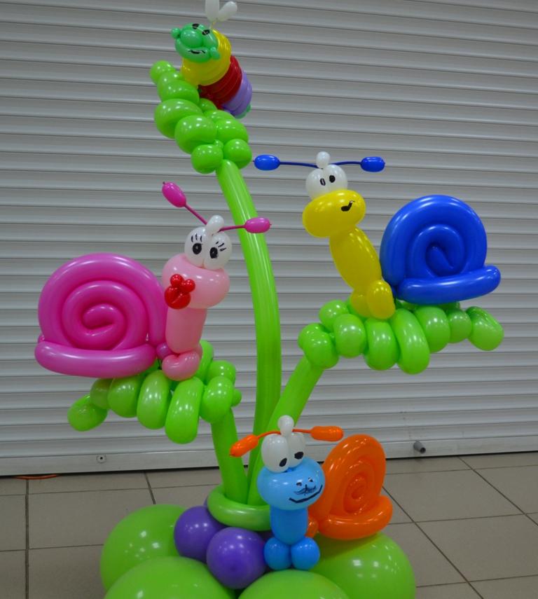 Красивые фигуры из шаров своими руками 610