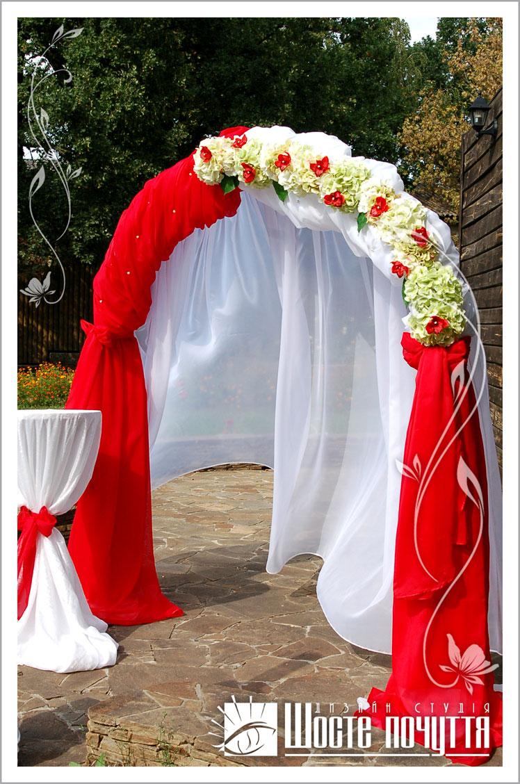 Свадебные арки оформление тканью своими руками