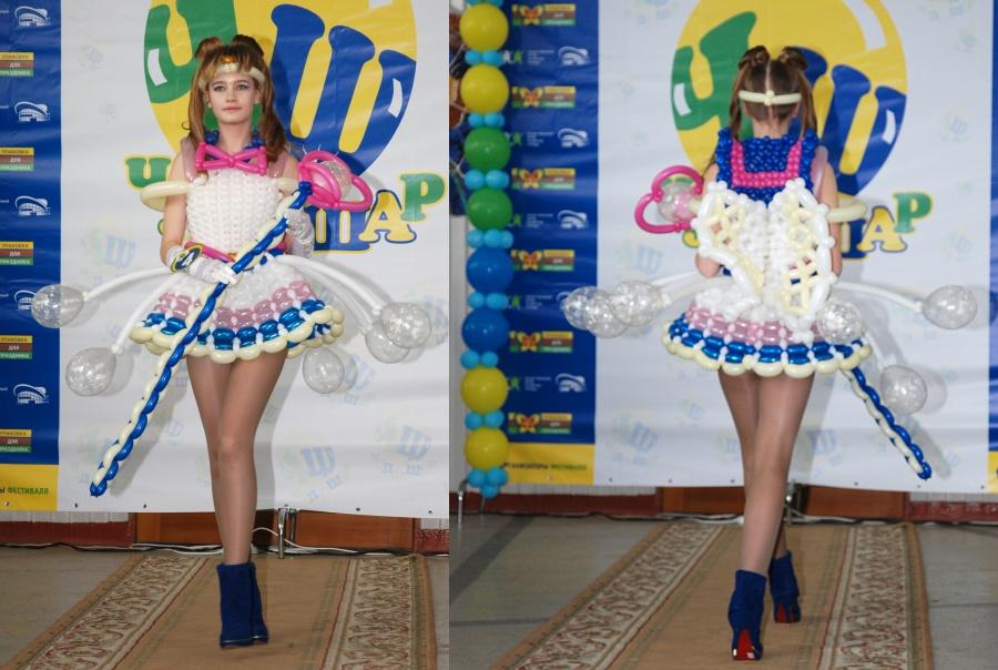 Платье из шариков для девочки своими руками 22