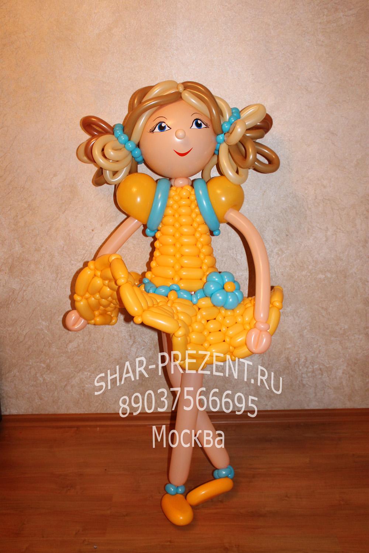 Как из воздушных шариков сделать куклу