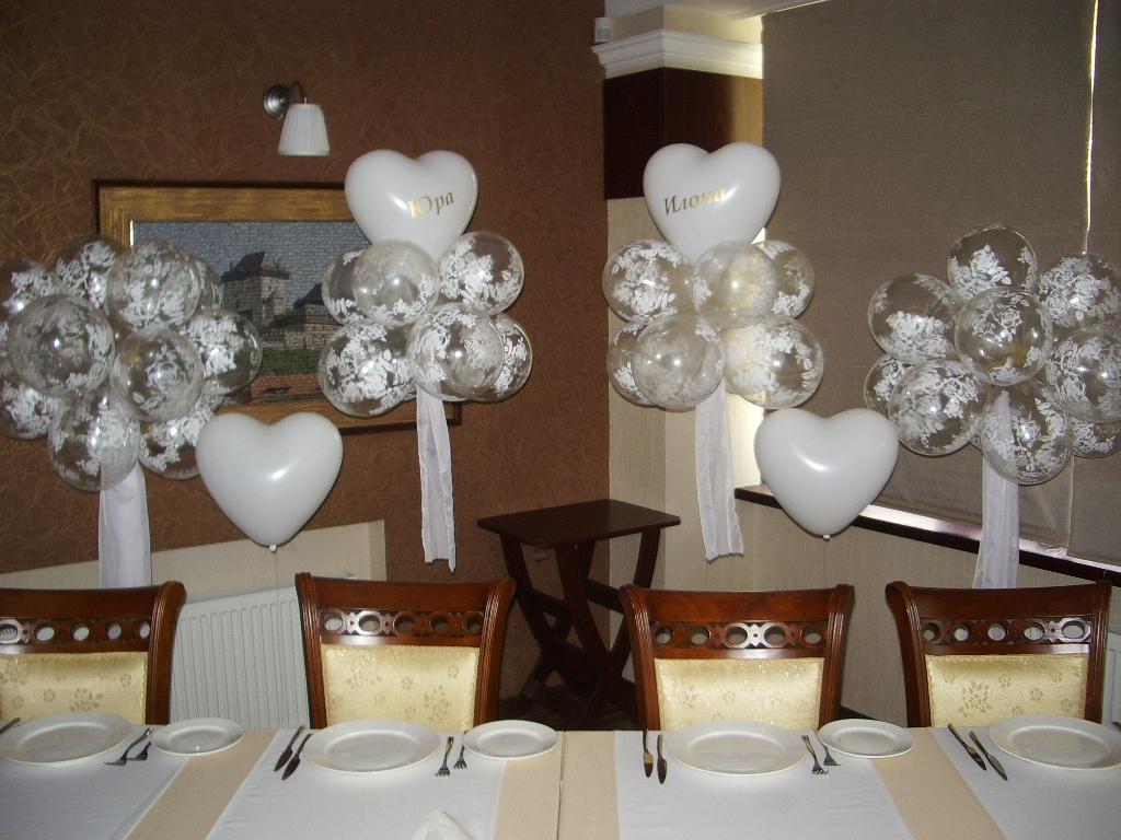 Украшение на серебряную свадьбу своими руками
