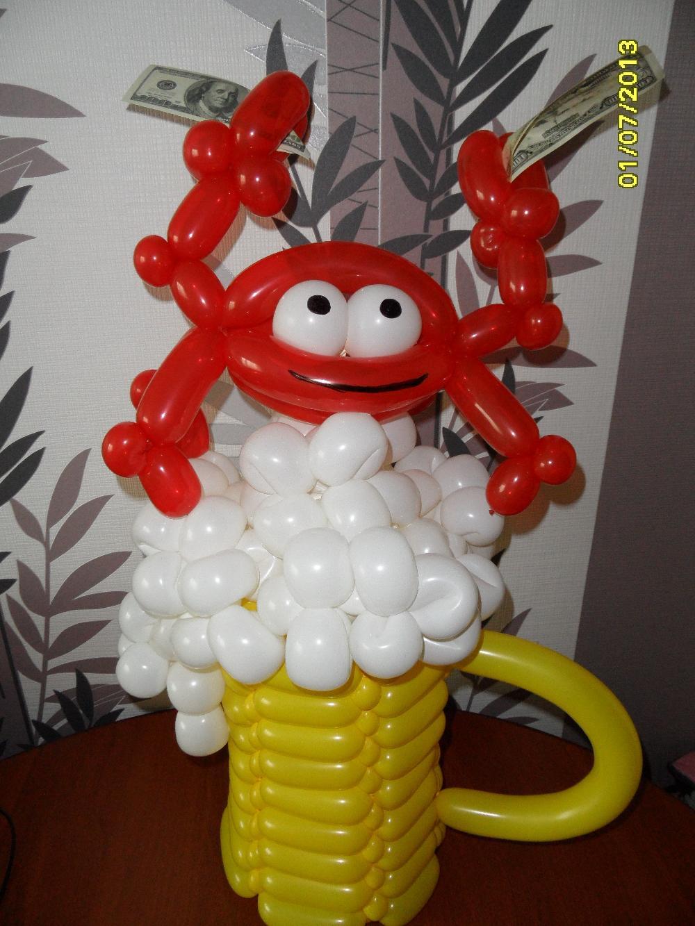 Подарок для мужчины из воздушных шаров 148