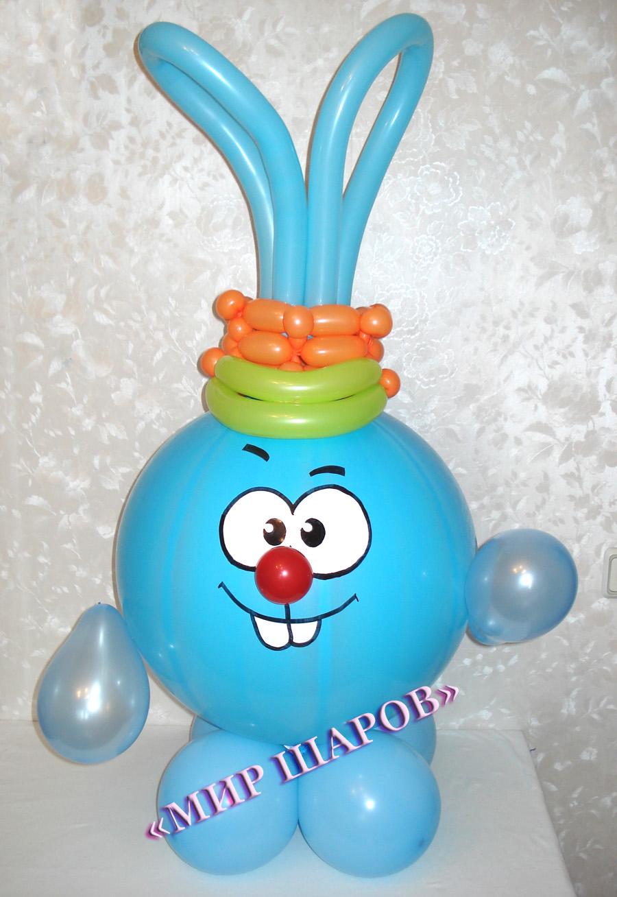 Смешарики из воздушных шаров своими руками