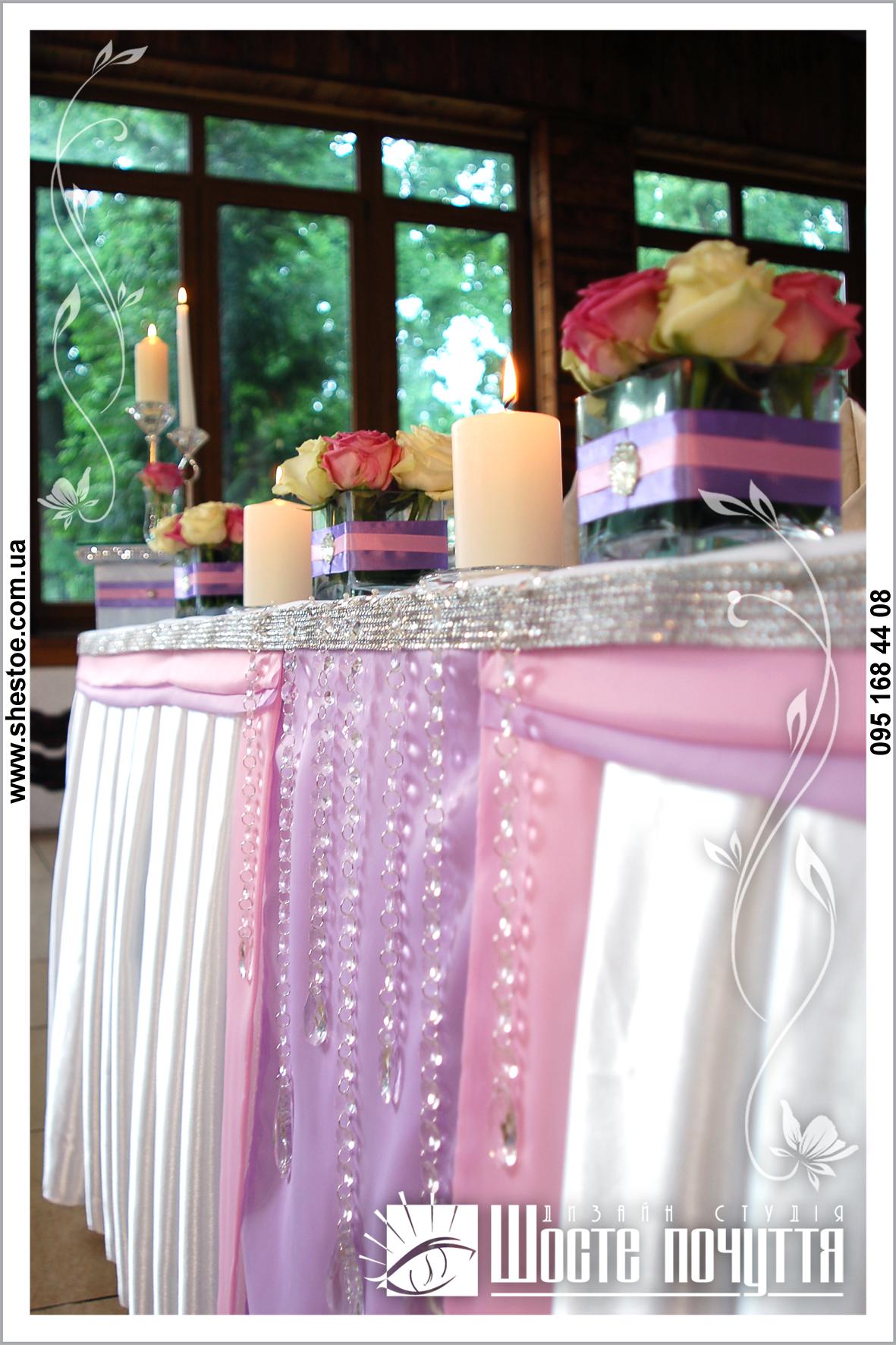 Сиреневая розовая свадьба фото
