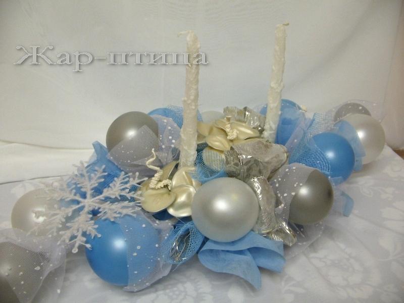 Новогодние композиции со свечами на стол своими