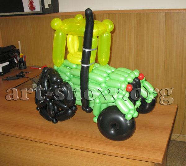 Квадроцикл из шаров своими руками 69