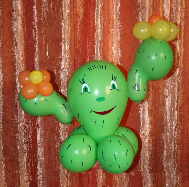 Кактусы из шаров своими руками