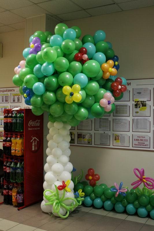 Дизайн из шаров своими руками