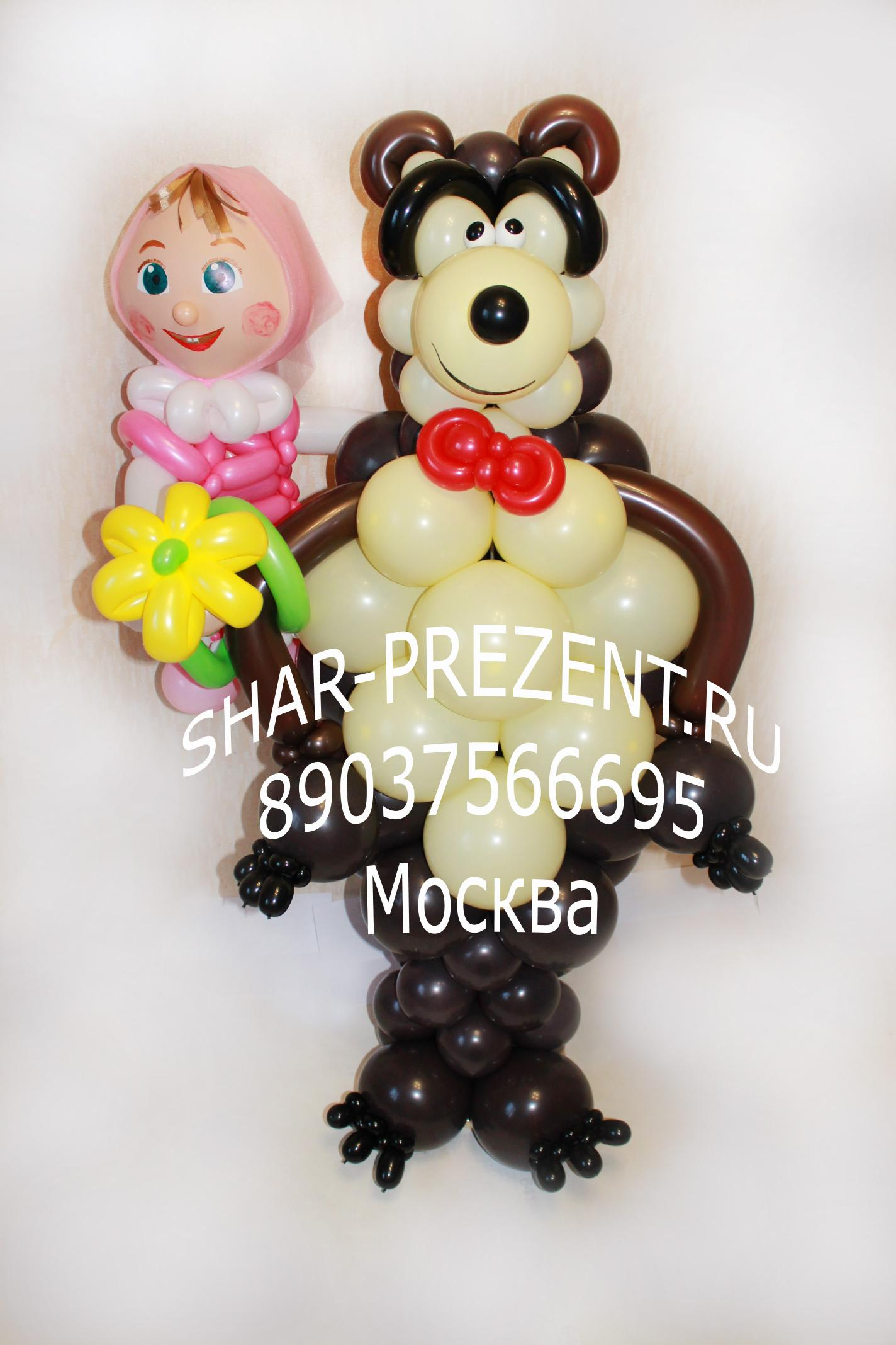 Маша и медведь из шариков своими руками