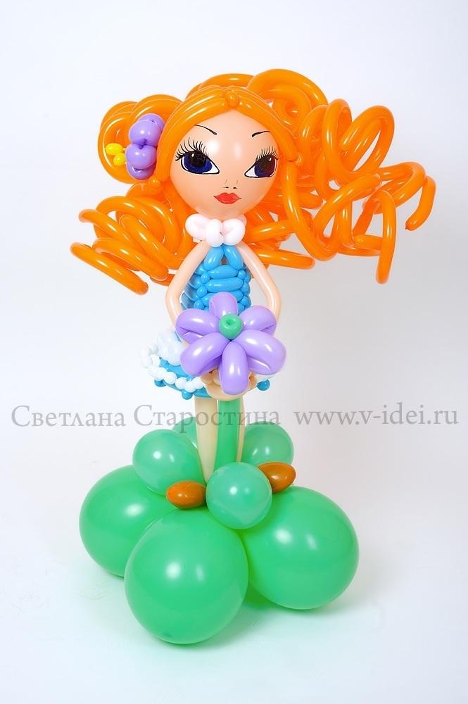 Как сделать из шариков куклу