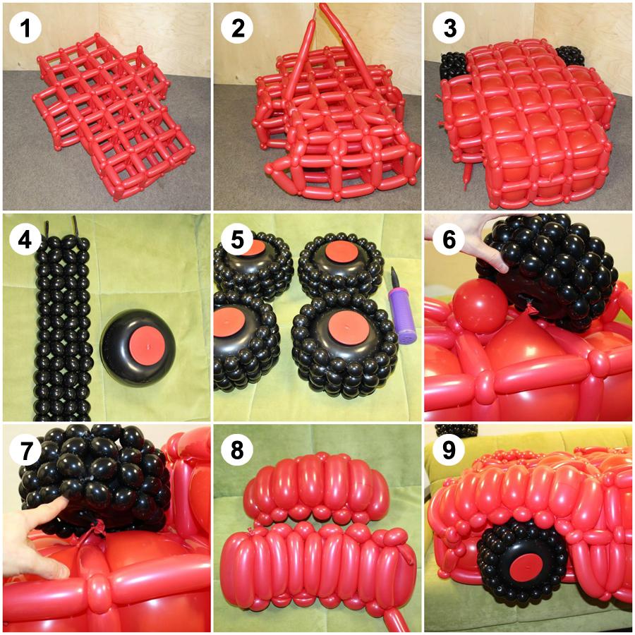 Как сделать молния маквин из шаров